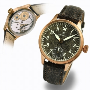 NAV B-UHR 42 BRONZE BLACK ANTIQUE